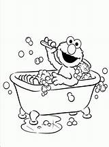Coloring Elmo Pages Bathroom Activity Children Printable Sesame Street Getdrawings Drawing Childrens sketch template