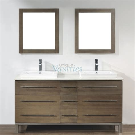 63 Inch Double Sink Bathroom Vanity In Smoked Ash Uvabgisa63