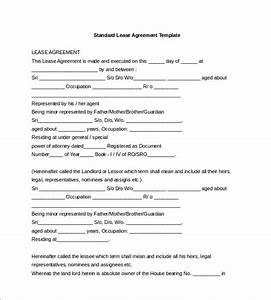 lease template 18 free word excel pdf documents With standard tenancy agreement template