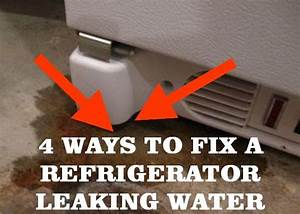 how to fix a refrigerator leaking water helpful things With refrigerator leaking water on floor