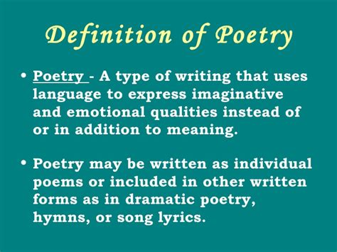 the definition of lyric poetry as a poetry category essay help