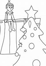 Elf Shelf Coloring Pages Tulamama Printable Print Easy They Collection Different sketch template