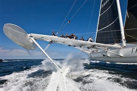 Trimaran World Speed Record by Hydroptere Sailboat To Set Transpacific Fastest Speed Record