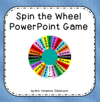 wheel  fortune game template  powerpoint yasncinfo
