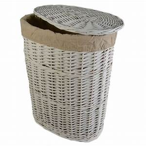 Casa, Willow, Laundry, Basket, Small, White