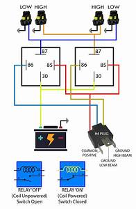 5 Wire Headlight Relay Wiring Diagram