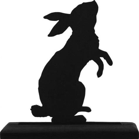 standing rabbit handmade wood display silhouette