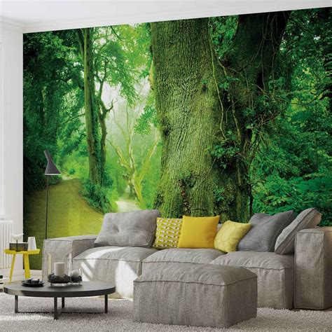 mural forest nature trees wall paper mural buy at europosters Forest