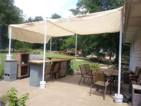 pvc patio cover 17 best images about stuff i ve made built pvc pipe canopy for backyard bar and grill on