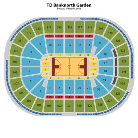 boston garden seating
