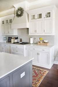 25 best ideas about white farmhouse kitchens on pinterest With kitchen colors with white cabinets with driftwood heart wall art
