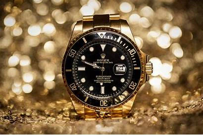 Rolex Wallpapers Watches Golden Gold Background Luxury