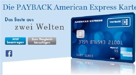 american express payback card kreditkarte kostenlos im