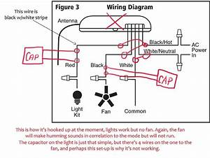 Hunter Ceiling Fan Light Wiring Diagram Reversing Switch