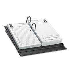 glance desk calendar refill white