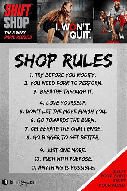Rules Shift Workout Motivate Any Through