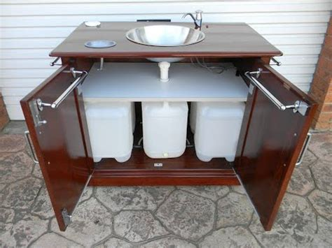 homemade portable sink youtube