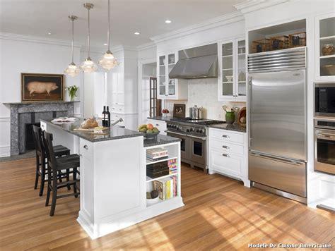 mod鑞e de cuisine ouverte modele de cuisine americaine comment meubler votre cuisine semi ouverte la cuisine en u avec bar voyez les derni res tendances mod le cuisine