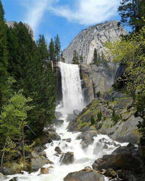 Vernal Fall Yosemite National Park California Color