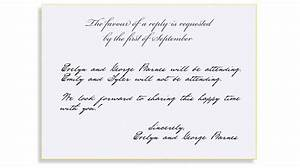 rsvp etiquette traditional favour of a reply filled out With wedding invitations rsvp how to respond