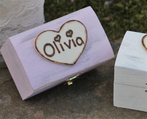 flower girl gift box personalized rustic bridesmaid