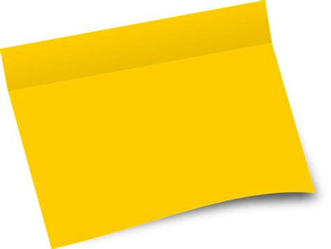 post it bureau free vector graphic paper office sheet blank yellow