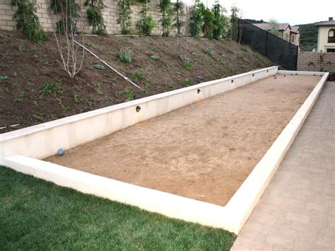 Backyard Bocce Court Dimensions by Search Viewer Hgtv