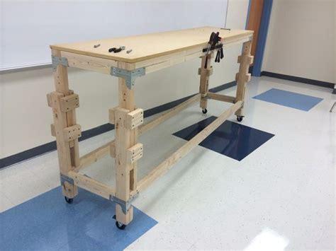 build  adjustable stand  workbench woodshop