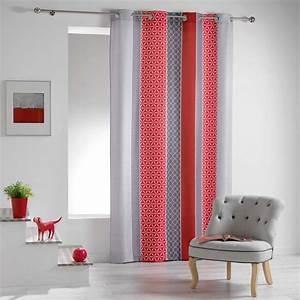 Rideau Voilage Rouge : rideau tamisant 140 x 260 cm galliance rouge rideau tamisant eminza ~ Teatrodelosmanantiales.com Idées de Décoration