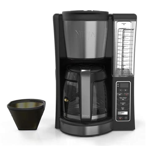Our removable water reservoir allows for easy filling. NINJA 12-Cup Programmable Black Drip Coffee Maker with Filter-CE201 - The Home Depot