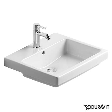 Duravit Vero Basin No Tap by Duravit Vero Drop In Washbasin White With 1 Tap