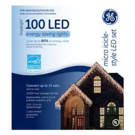 shop ge 100 count white led christmas icicle lights energy star at lowes com