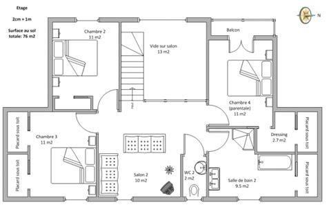 plan maison a etage 100m2
