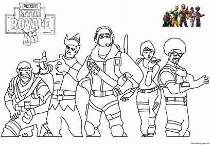 Fortnite Coloring Pages Season Chapter Skins Trending
