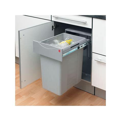 cuisine laque blanc poubelle bac grise 40 litres ilovedetails