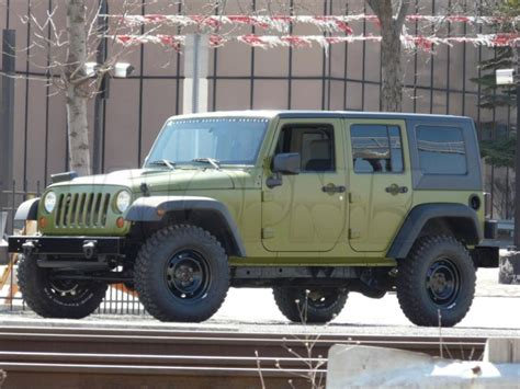 jeep wrangler military aev working on jeep wrangler j8 unlimited military package
