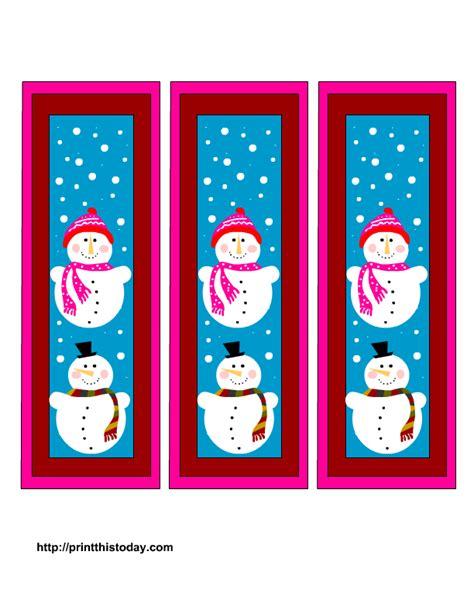 christmas template mark free winter bookmarks printable templates