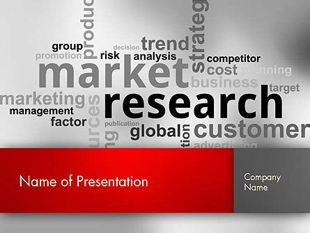 market research word cloud  template