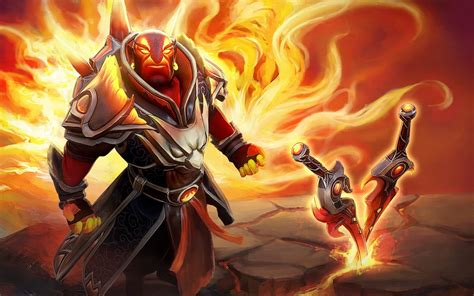 dota  hero ember spirit flame fist swords skin desktop