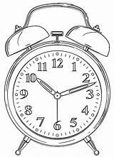 Clock Printable Alarm Templates Activity sketch template