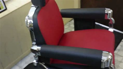 1950 s belmont barber chair restoration finished product