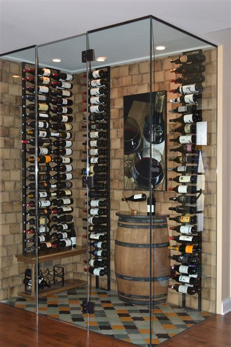 gorgeous wall mounted wine racks  wine cellar contemporary  whiskey barrel bar