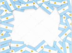 Marco con bandera argentina — Foto de stock © Mishchenko