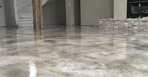 micro topping concrete overlay  stain  sealed