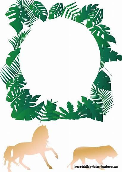 Jungle Shower Invitations Printable Templates Safari Invitation
