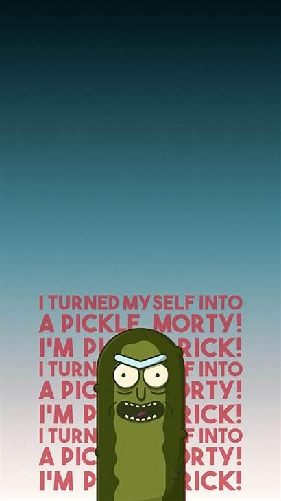 Rick Morty Pickle Wallpapers Heroscreen Myself Turned