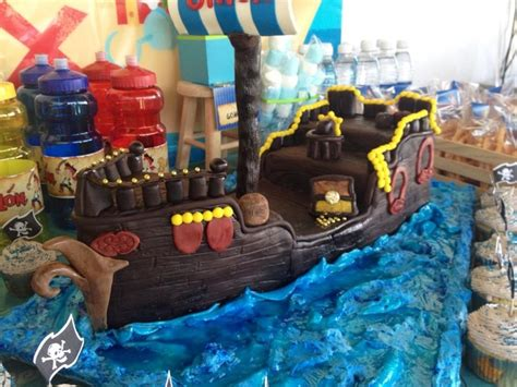 pastel de fondant de jake el pirata creaciones