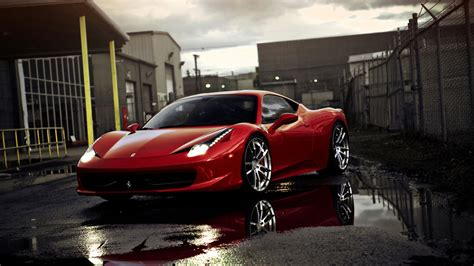 Ferrari 458 Ittalia Red 1080p Hd Wallpaper