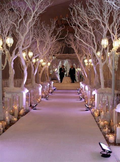 winter wedding aisle decoration ideas 34 magical winter wonderland wedding ideas weddingomania