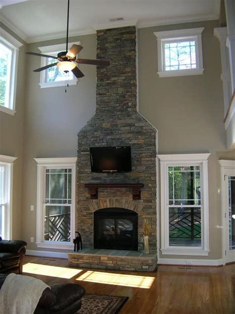 story stone fireplace  royalty homes